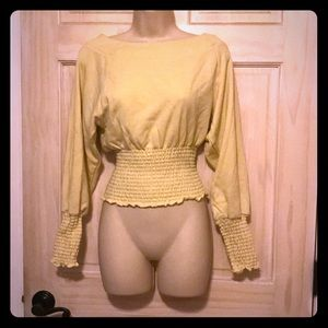Urban outfitters soft yellow sweatshirt